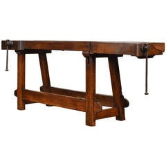 Antique Ski Workbench from the French Alps