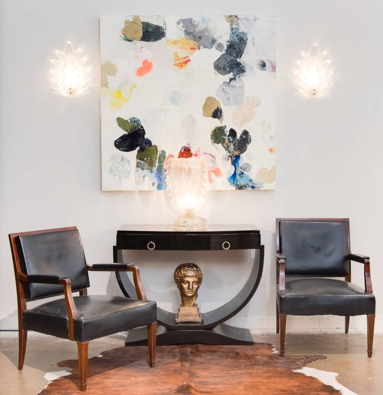 French Vintage Pair of Armchairs in the Manner of Jacques Adnet 2