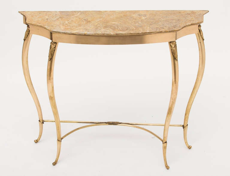 Marble Console Table : Italian Marble Top Console Table style of Paolo Buffa at 1stdibs