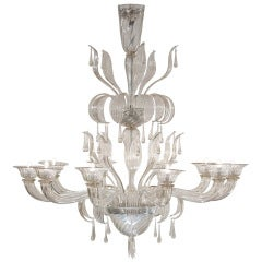 Murano Glass Chandelier by Salviati