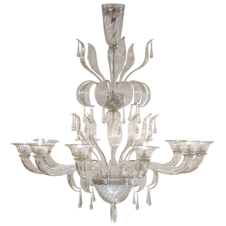 Murano glass chandelier by salviati for sale at 1stdibs murano glass chandelier by salviati for sale aloadofball Image collections
