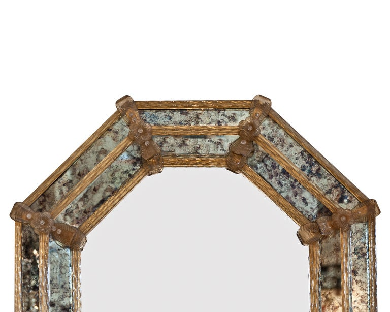 Octagonal Venetian Glass Mirror at 1stdibs