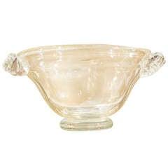 """Murano """"Avventurina"""" Glass Bowl"""