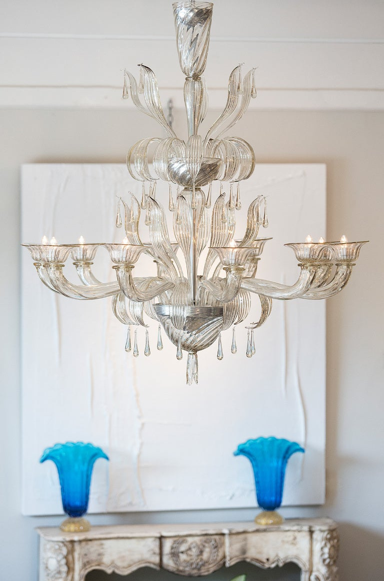 Murano Glass Chandelier by Salviati For Sale at 1stdibs – Murano Glass Chandelier Modern