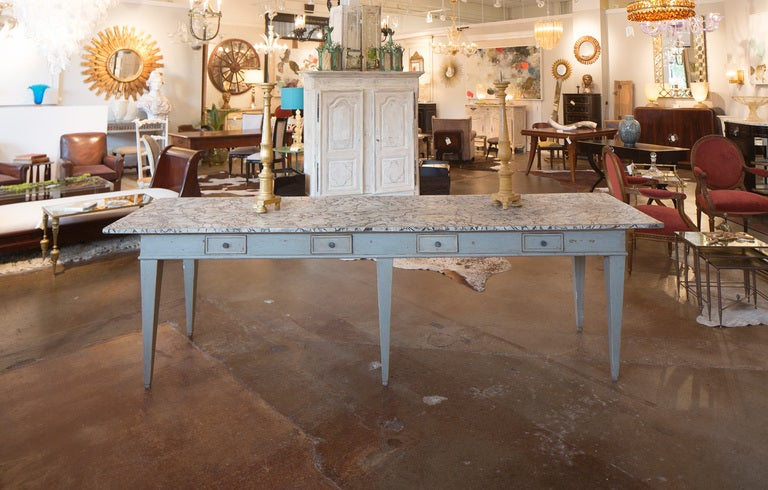 Antique Italian Painted Farm Table At 1stdibs