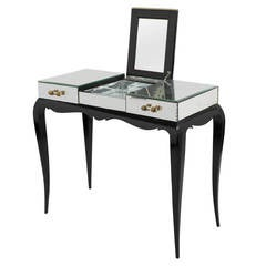 French Art Deco Mirrored Vanity Table