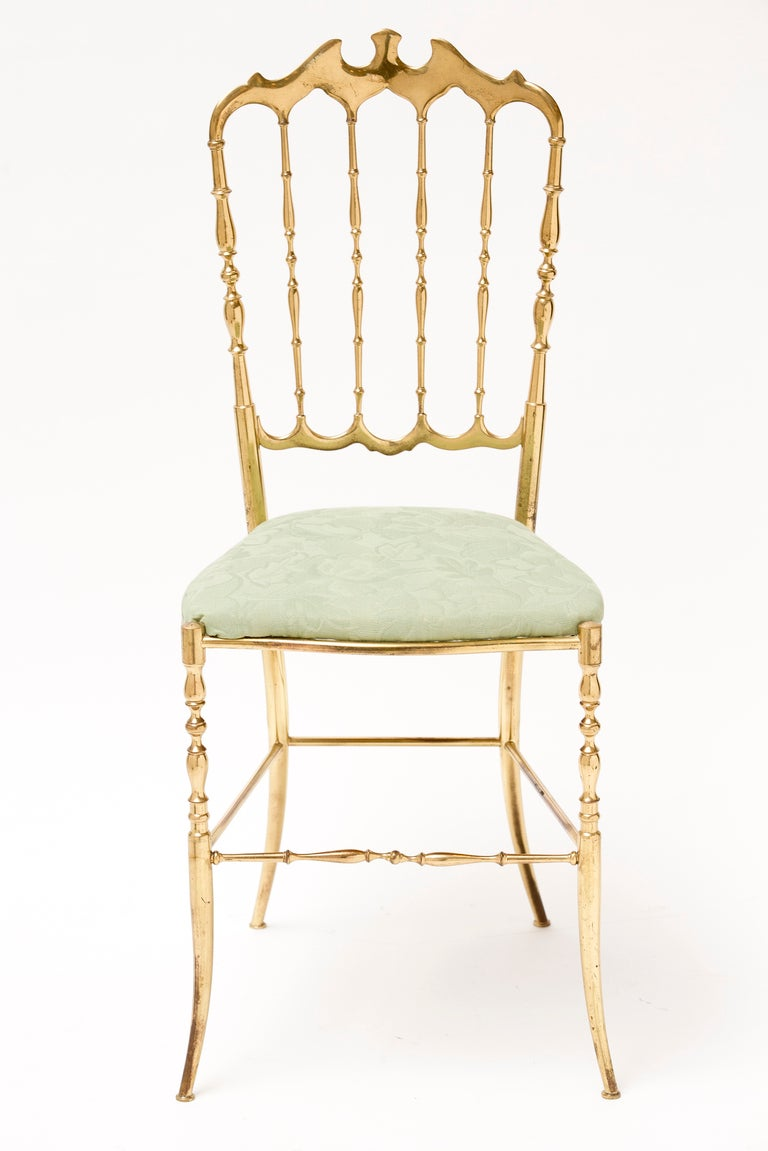 Pair of Vintage Brass Chiavari Chairs at 1stdibs