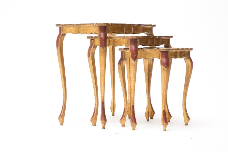 Venetian Set of Painted Nesting Tables image 2