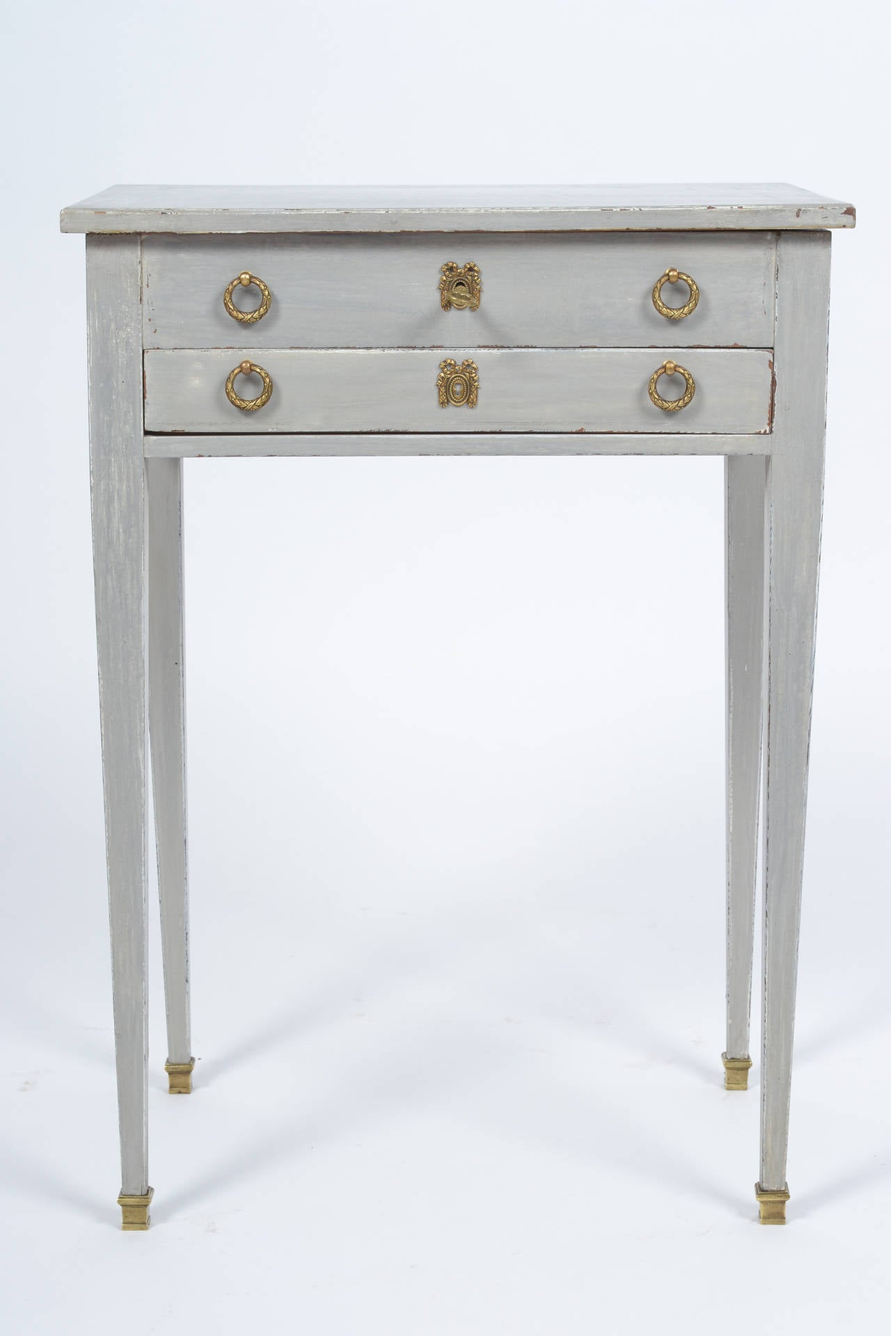 French Directoire Style Vanity Side Table In Good Condition For Sale In Austin, TX