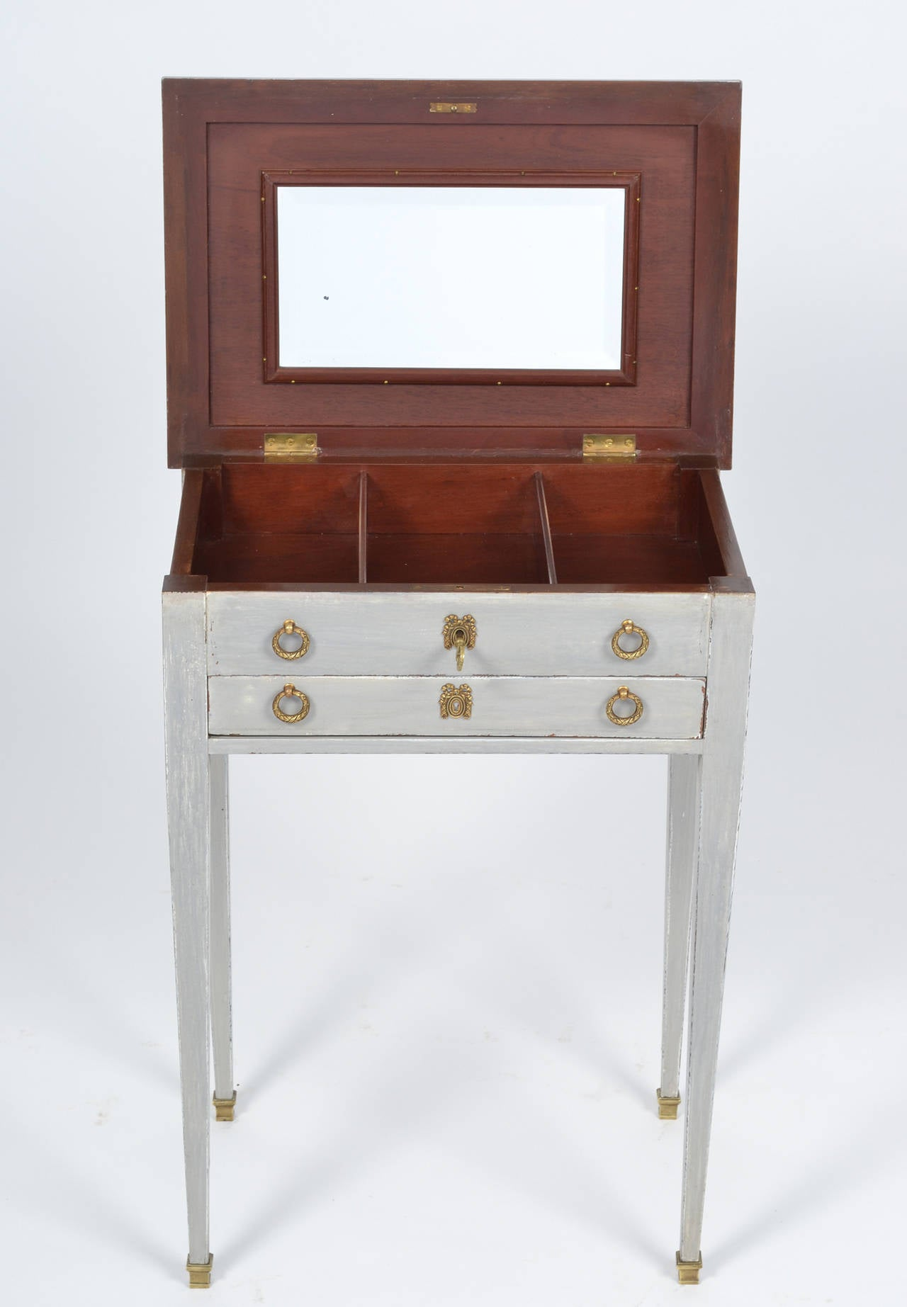 19th Century French Directoire Style Vanity Side Table For Sale