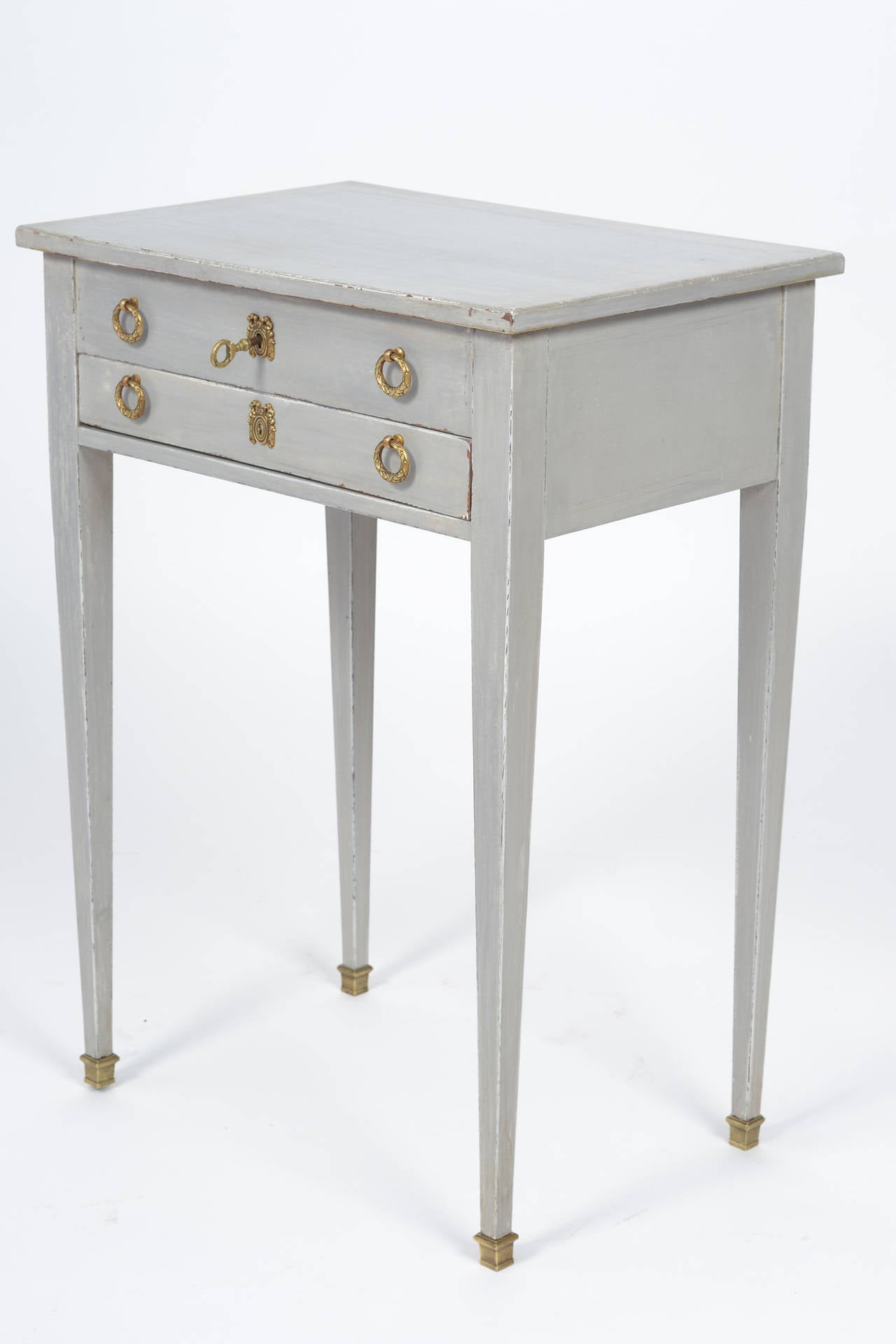 French Directoire Style Vanity Side Table For Sale 1