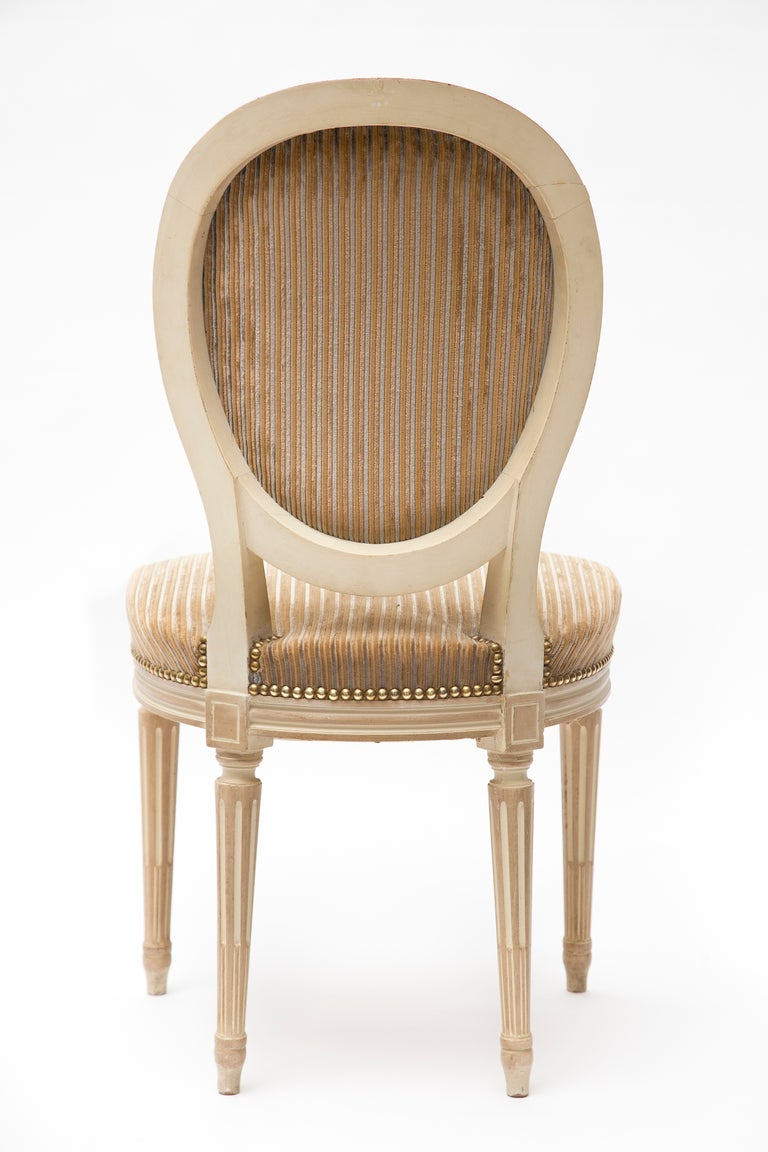 Set of 6 louis xvi painted dining chairs at 1stdibs - Louis th chairs ...