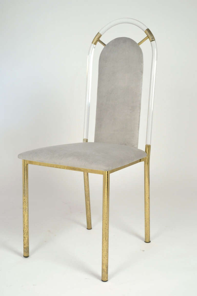 This Vintage Lucite & Brass Side Chair is no longer available.