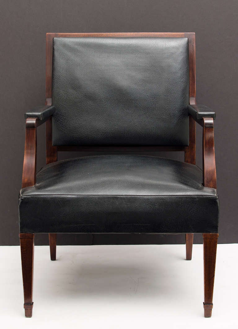 French Vintage Pair of Armchairs in the Manner of Jacques Adnet 5