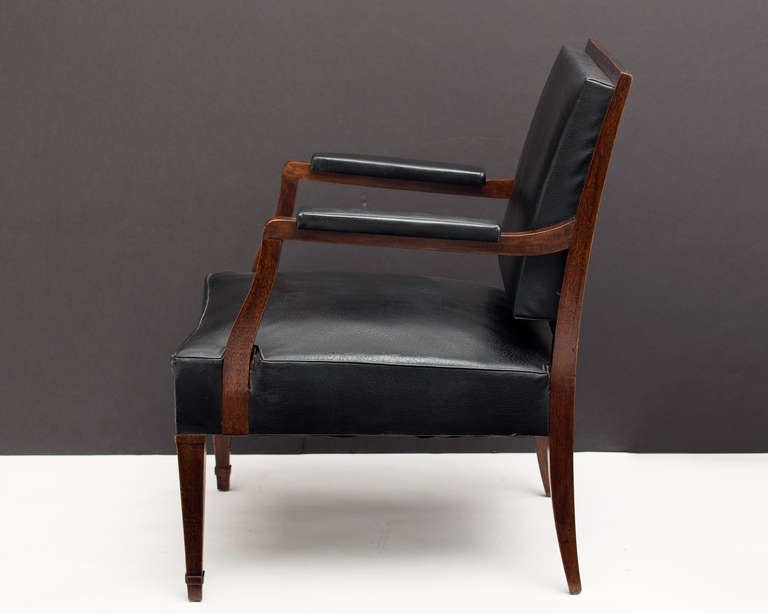 French Vintage Pair of Armchairs in the Manner of Jacques Adnet 6