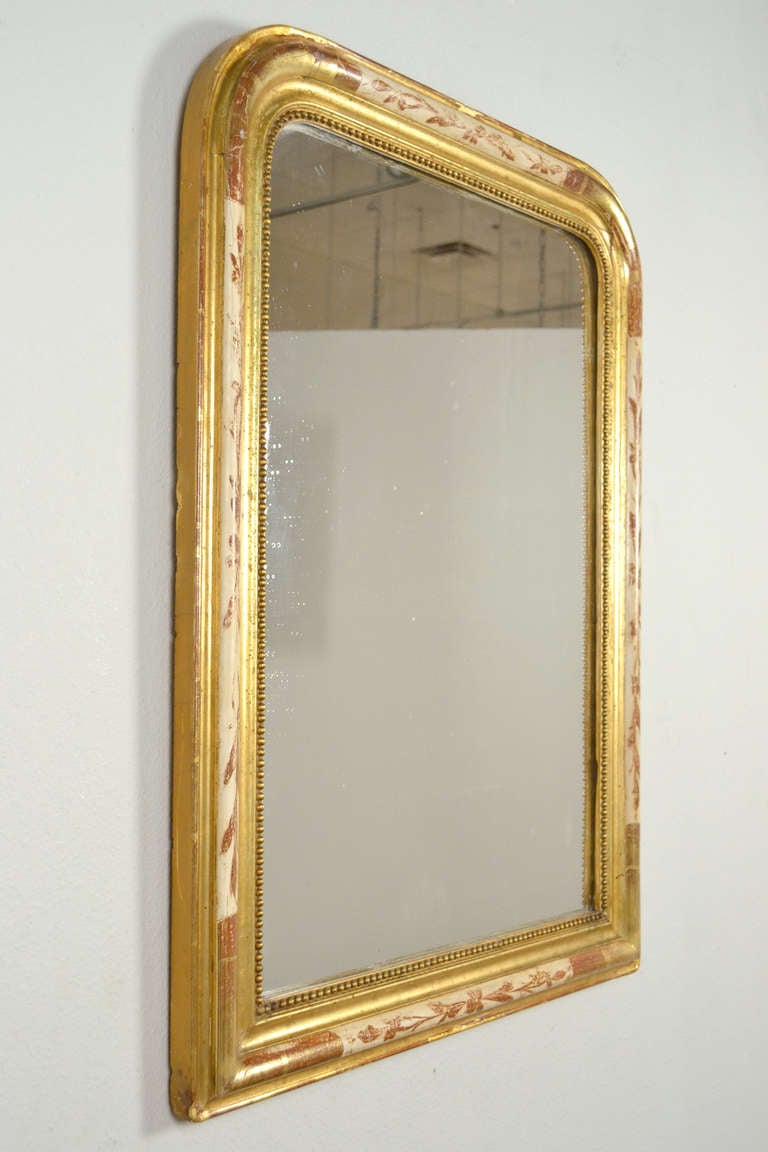Antique french louis philippe mirror at 1stdibs for Antique french mirror