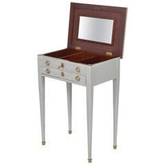 French Directoire Style Vanity Side Table