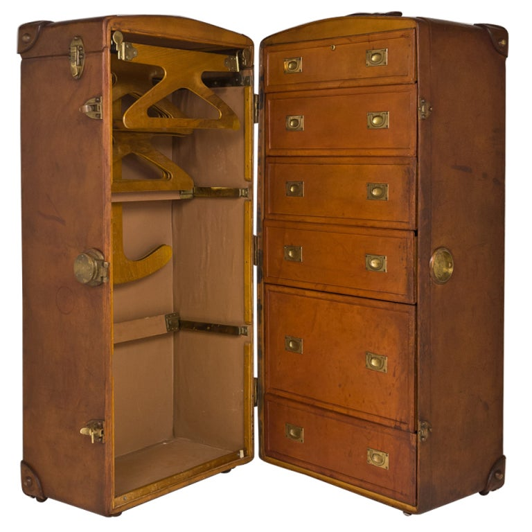 Leather Steamer Trunk 15