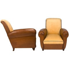 Vintage Pair of French Club Chairs