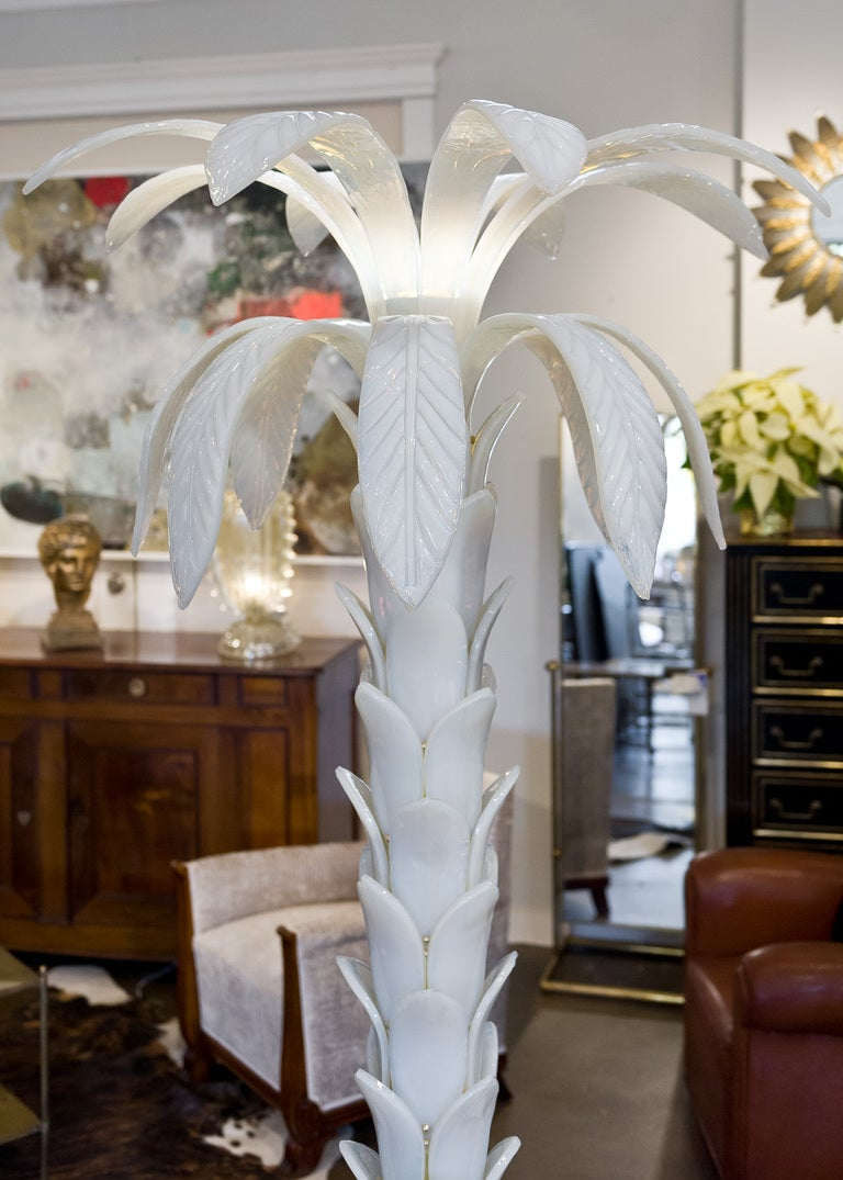 Murano Glass Palm Tree Floor Lamp By Mazzucato At 1stdibs
