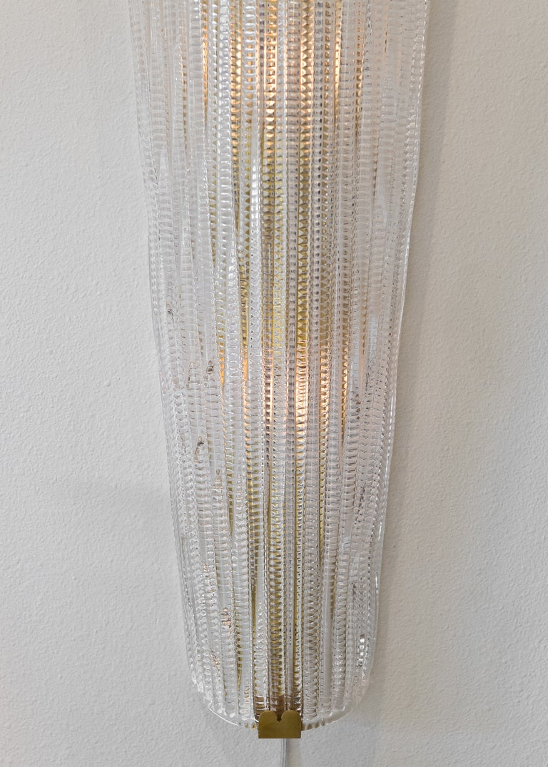 Grand Pair of Murano Glass Wall Sconces by Barovier at 1stdibs