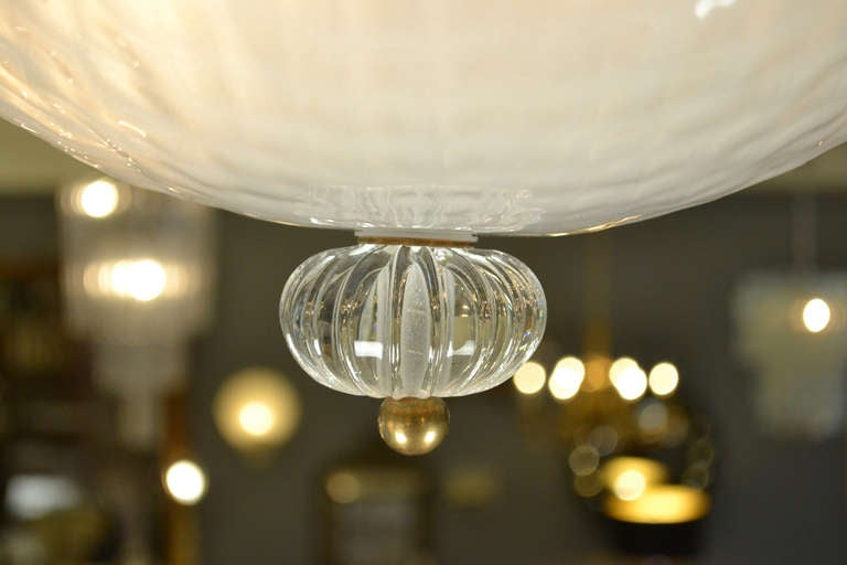murano opaline glass ceiling fixture for sale at 1stdibs. Black Bedroom Furniture Sets. Home Design Ideas