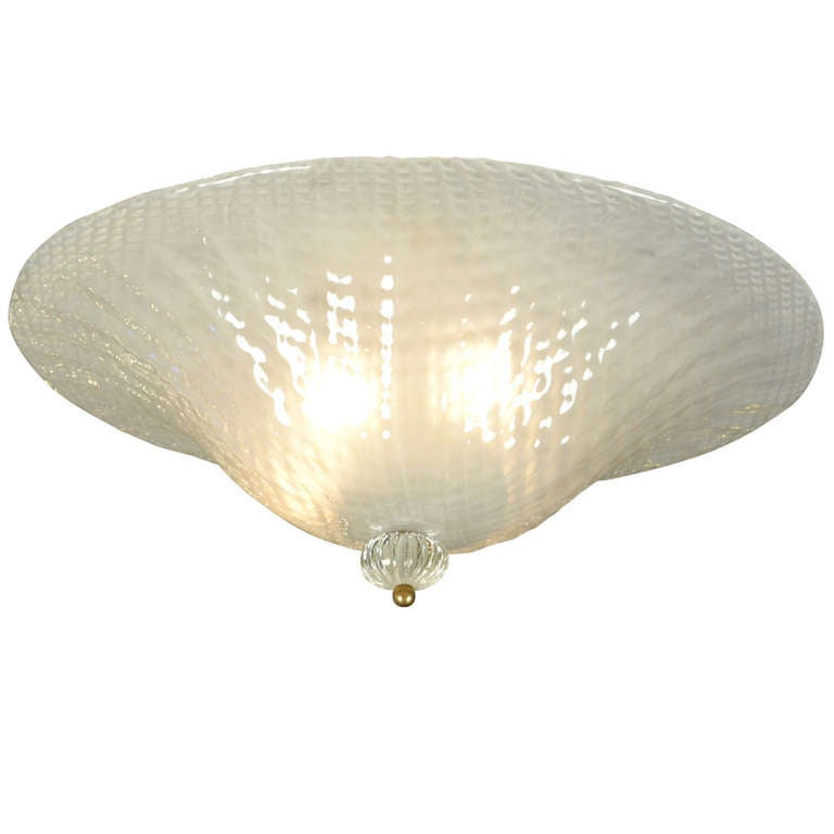 Murano Opaline Glass Ceiling Fixture