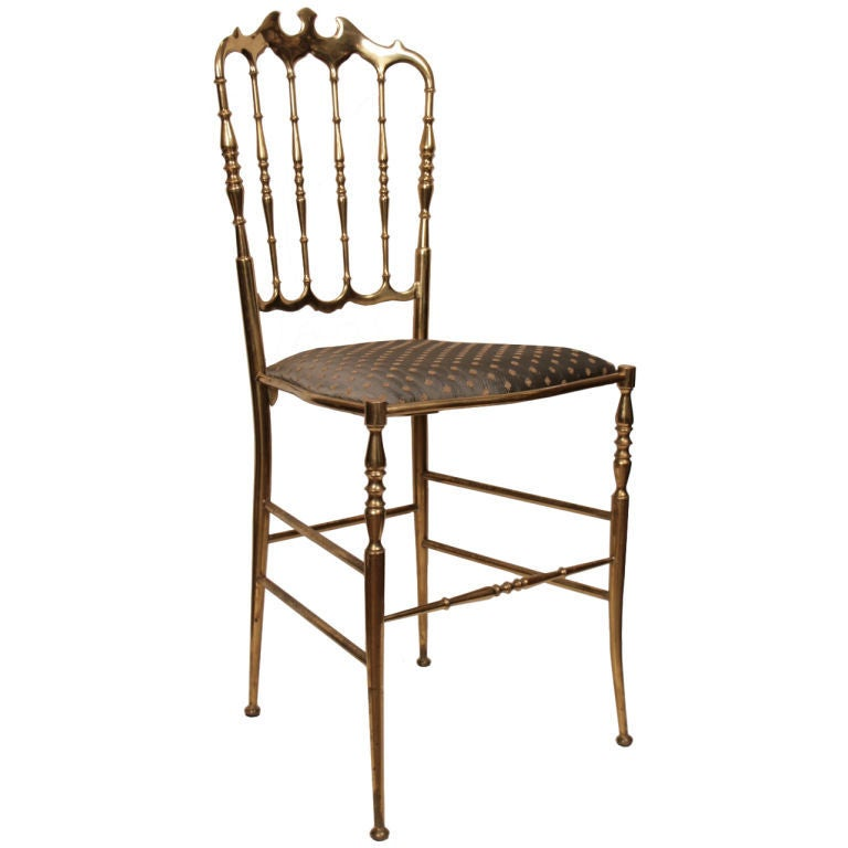antique italian bronze chiavari chair 1