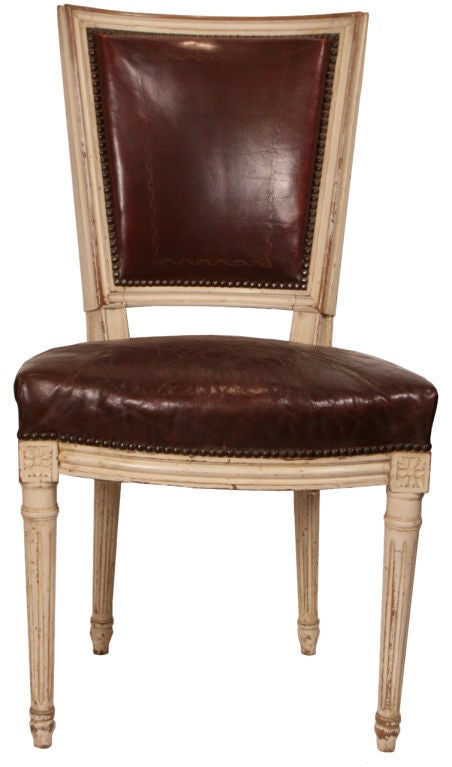 Set Of Six French Antique Louis XVI Dining Chairs At 1stdibs