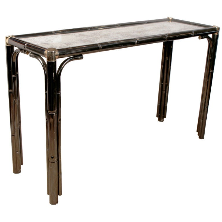 French vintage metal console table at 1stdibs Metal console table