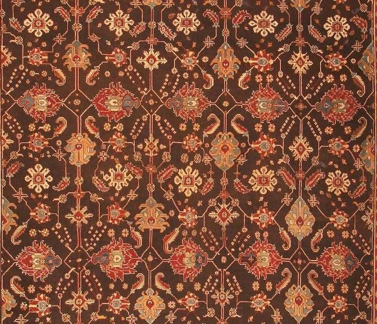 Deep Burgundy Indian Agra Rug For Sale At 1stdibs: Antique Oriental Indian Agra Rug Or Carpet For Sale At 1stdibs