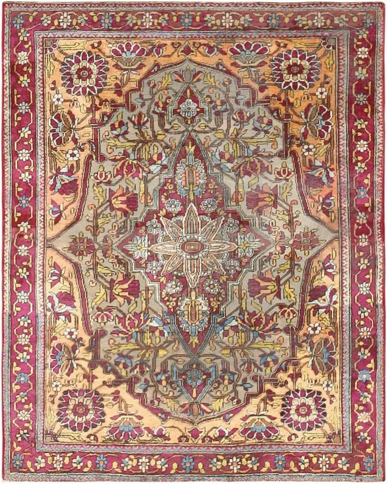 Persian Rugs For Sale: Pair Of Antique Mohtashem Kashan Persian Rugs For Sale At