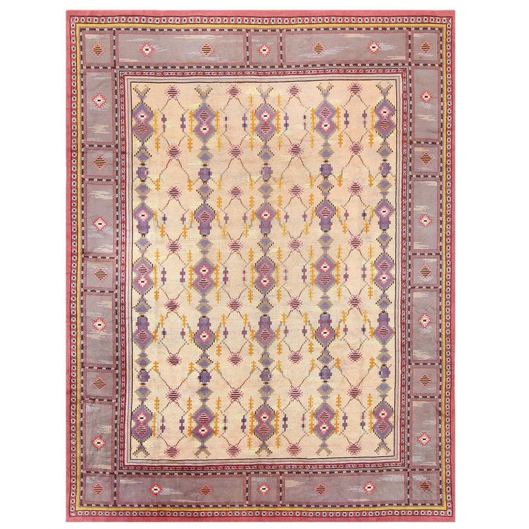 Beautiful Vintage Scandinavian Carpet