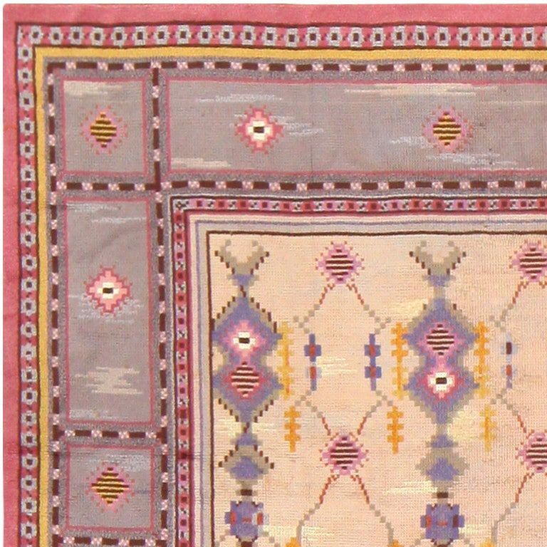 20th Century Beautiful Vintage Scandinavian Carpet