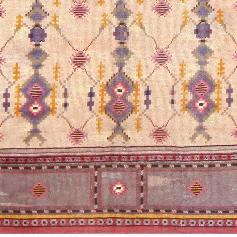 Mid-Century Modern Beautiful Vintage Scandinavian Carpet