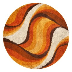 Vintage Swedish Deco Rug by Verner Panton