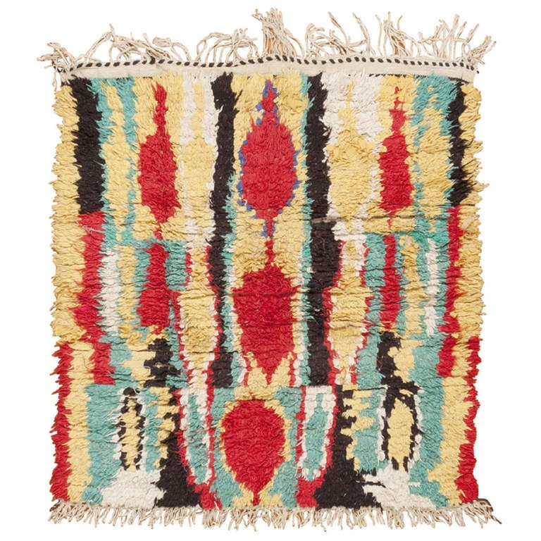 Moroccan Boucherouite Rug For Sale At 1stdibs: Moroccan Rug At 1stdibs