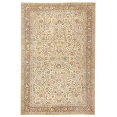 Beautiful Antique Brown Khorassan Rug
