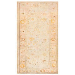 Antique Turkish Ghiordes Oushak Carpet For Sale At 1stdibs