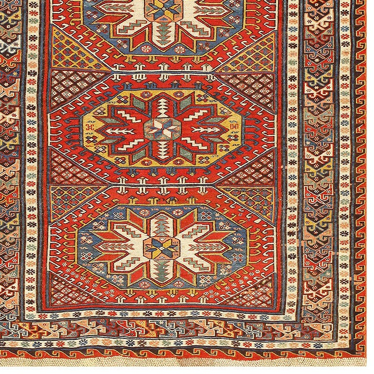 Antique Caucasian Soumak Rug Origin Caucasus Circa Turn Of The Twentieth Century