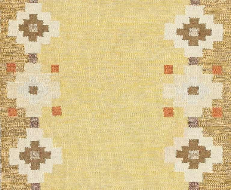 Scandinavian Modern Scandinavian Swedish Kilim Carpet For Sale