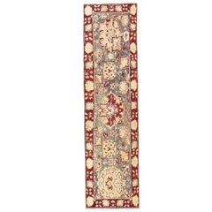 Antique Indian Agra Runner. Size: 3 ft x 10 ft (0.91 m x 3.05 m)