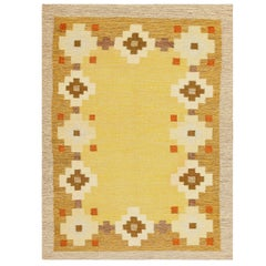 Scandinavian Swedish Kilim Carpet