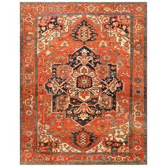 Beautiful Antique Persian Serapi Rug