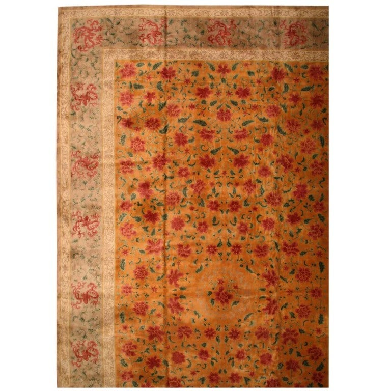 Antique Chinese Rug: Antique Chinese Oriental Rug For Sale At 1stdibs