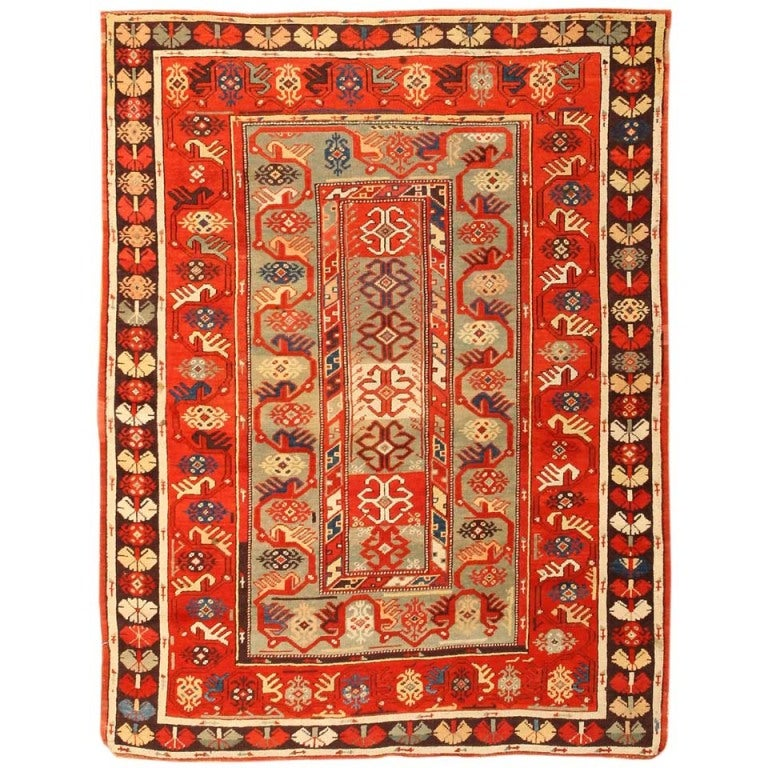 Antique Vintage Turkish Rugs: Antique Milas Turkish Rug At 1stdibs
