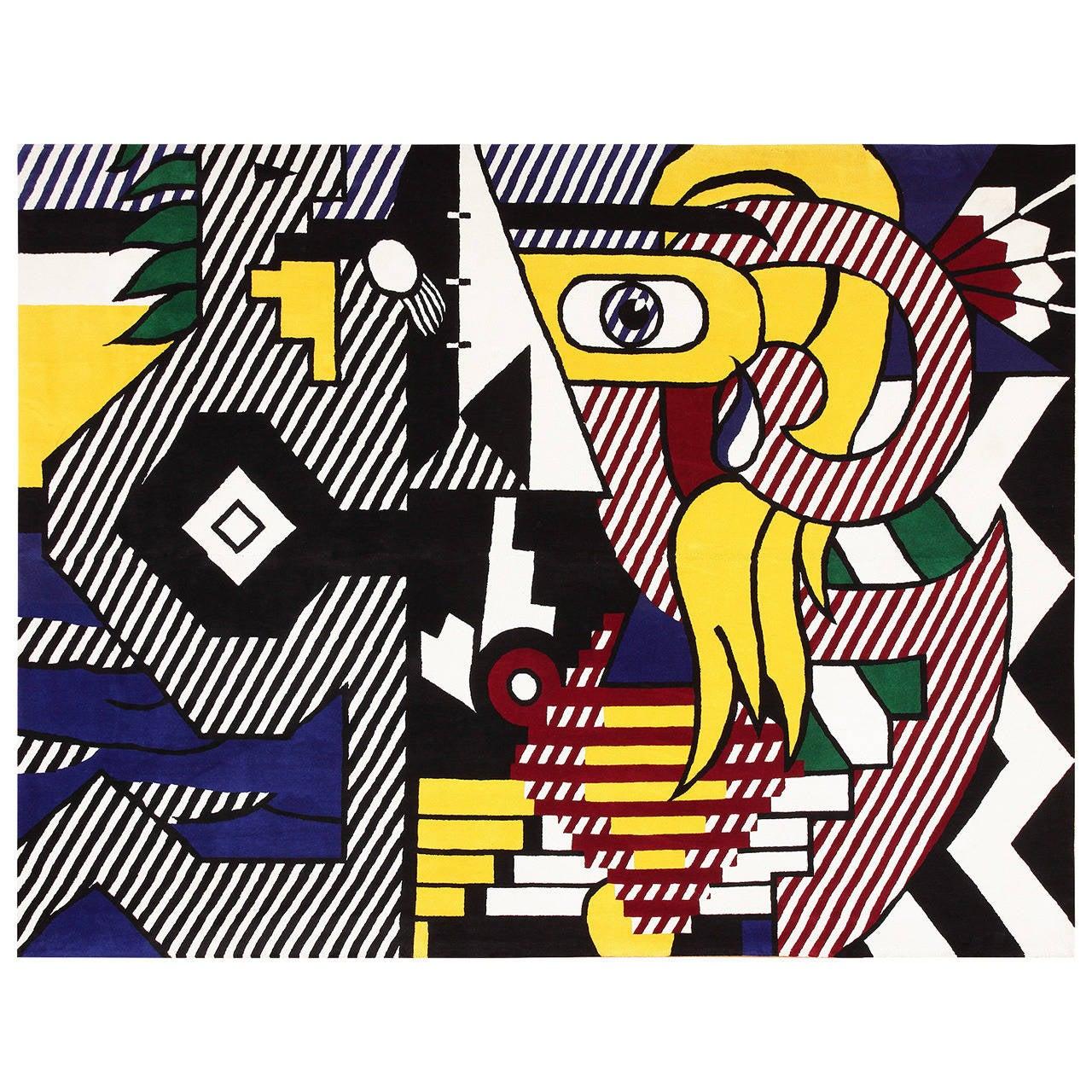 Roy Lichtenstein Pop Art rug, mid-2oth-century