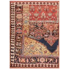 Antique Bidjar Persian Sampler Rug