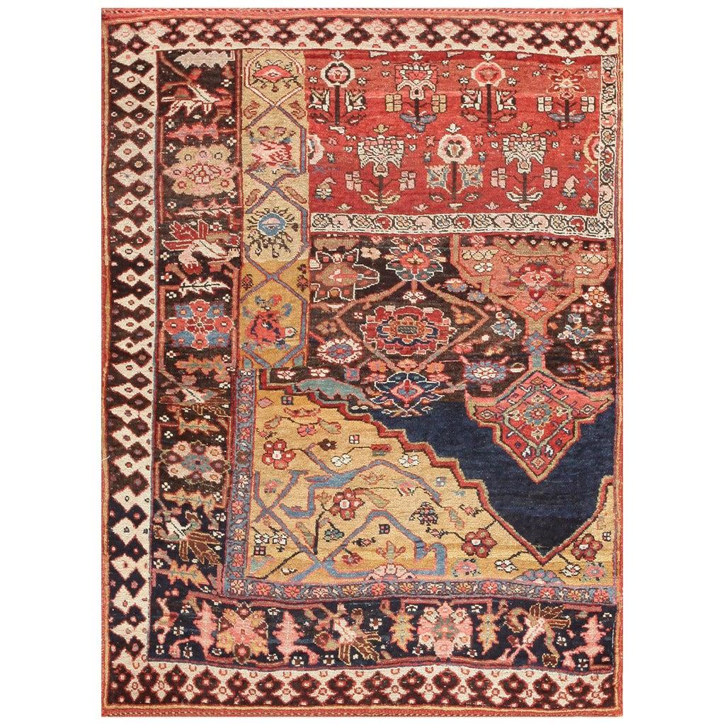 Antique Bidjar Persian Sampler Rug At 1stdibs