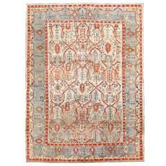 Antique Turkish Ghiordes Oushak Carpet